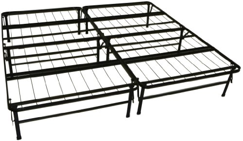 DuraBed Steel Foundation & Frame-in-One Mattress Support System Foldable Bed Frame, King-size
