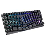 Ergonomic Keyboard Natural Wired Mechanical Gaming Keyboard, X-Bows Ergo USB RGB Backlt MS TKL Sculpt Keyboard for Microsoft HP LG PC Laptop etc (86 Keys Brown Switch)