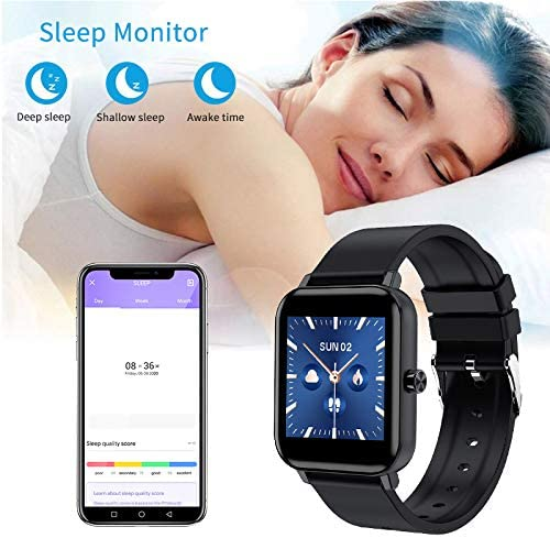 Smart Watch for Android and iOS Phones, AOKEY Fitness Tracker Watch for Men Women, Heart Rate and Sleep Monitor, Pedometer, IP68 Waterproof Activity Tracker (Black) 6