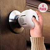 EUDEMON 4 Pack Baby Safety Door Knob Covers Door Knob Locks