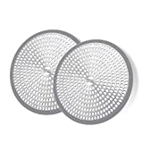 LEKEYE Shower Hair Catcher Drain Protector Strainer-Steel & Silicone 2 Pack...