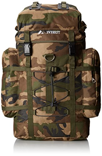Everest Woodland Camo Hiking Pack, Camouflage, One Size