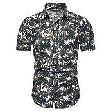 Mens Linen Shirts Tronet Men Summer Cotton Linen Buttons Casual T-Shirt Short Sleeve Shirt Tee