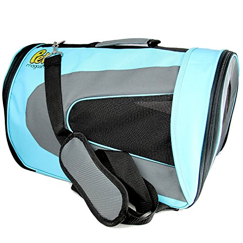 Pet Magasin Soft-Sided Pet Travel Carrier (Airline Approved) for Cats, Small Dogs, Puppies and Other Pets by (Large, Blue)