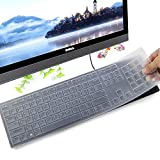 Keyboard Protector Skin for Dell KM636 Wireless Keyboard & Dell KB216 Wired Keyboard, Clear