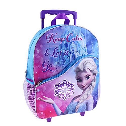 Disney Frozen Large Rolling Backpack 16' Elsa 'Keep Calm and Let it Go'