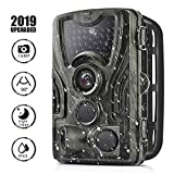 Trail Game Camera 16MP 1080P Full HD Hunting Scouting Camera 36pcs IR LEDs 0.3s Tigger Time 120°Detecting Range IP65 Waterproof Motion Activated Night Vision for Wildlife Monitoring Home Security