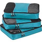 eBags Large Packing Cubes for Travel - 3pc Set - (Aquamarine)