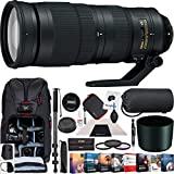 Nikon 200-500mm f/5.6E ED VR AF-S FX Full Frame NIKKOR Super Telephoto Zoom Lens (20058) with 95mm Multicoated UV, Polarizer & FLD Filter Kit Monopod Photography Backpack Editing Software Bundle