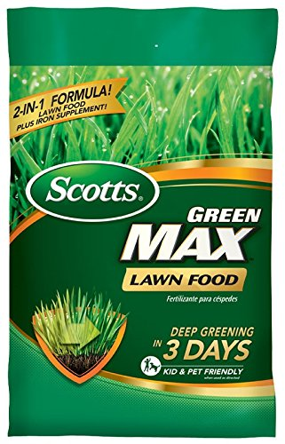 Scotts Green Max Lawn Food - 10 M | Lawn Fertilizer Plus Iron Supplement | Builds Thick, Green Lawns | Deep Greening in 3 Days | 44611A