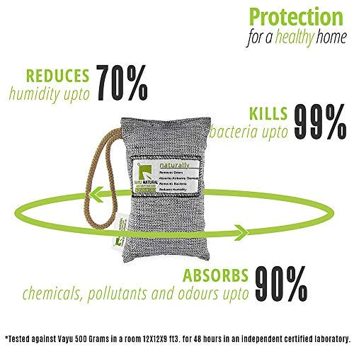 BreatheFresh Vayu Natural Air Purifying Bag, 100% Activated Charcoal. Odour, Allergens and Pollutants Remover 2