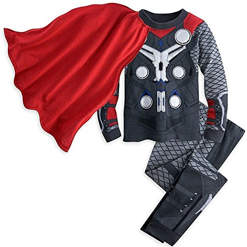 Disney Store Avengers Thor Boy 2PC Long Sleeve Costume Caped Pajama Set Size 5