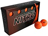 Long Distance High-Durability Golf Balls (15PK) All Levels-Nitro Ultimate Distance Titanium Core High Velocity Great Stop & Sticking ability Golf Balls USGA Approved-Total of 15-Orange