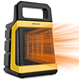 1500W Ceramic Space Heater with Adjustable Thermostat, Fast Heating for Small and Middle Rooms, Office Floor,...