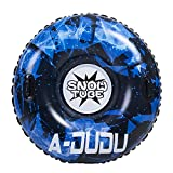 A-DUDU Snow Tube - Super Big 47/39 Inches Inflatable Snow Sled with Rapid Valves - Heavy Duty Inflatable Snow Tube Made by Thickening Material of 0.6mm