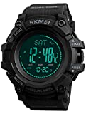 Mens Military Altimeter Barometer Compass Temperature Digital Outdoor Army Pedometer Calorie Activity Tracker Sports Watch