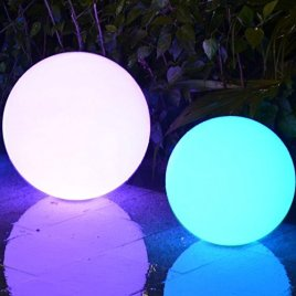 LED Mood Light, Light Up Decorative Party Furniture – Indoor / Outdoor Cordless – Child Safe With Remote Control By Playlearn