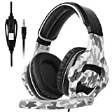 SADES New Xbox One Gaming Headset SA-810 3.5mm Wired Multi-Platform Over Ear Headphone Stereo Bass Gaming Headphones with Mic Noise Isolating Volume Control for PC PS4 Laptop(Camouflage)