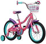 Schwinn Jasmine Girl's Bike with Training Wheels, 16' Wheels, Pink