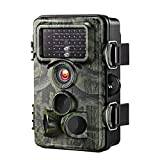 VicTsing Trail Camera, 0.2s Trigger Time 2.4'' LCD, 12MP 1080P, Night Vision Game&Hunting Camera,Low Glow Infrared 42 pcs LEDs, 20m/65ft, IP66 Spray Waterproof