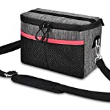 UTEBIT DSLR Camera Bag Nylon Shoulder Bag for Women Man Grey Lens Camera Case Small Camera Travel Bag Compatible Nikon, Canon, Sony, Fuji Instax, DSLR, SLR, Mirrorless Cameras and Lenses