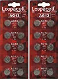LOOPACELL AG13 LR44 L1154 357 A76 BATTERIES 20 PACK