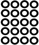 Sterling Seal CRG7106.1250.031.150X20 7106 Rubber 60 Durometer Ring Gasket, 1-1/4' Pipe Size, 1/32' Thick, Pressure Class 150#, 1.66' ID, Neoprene (Pack of 20)