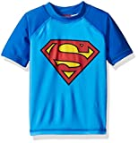 Warner Bros. Boys' Superman Toddler Rashguard, Blue, 2T