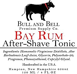 Bull and Bell Aftershave Tonic - Handmade in USA Using All Natural Ingredients Including Witch Hazel - 4oz - Best Aftershave for Sensitive Skin (Bay Rum)  Image 3