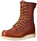 Red Wing Heritage Men's 8' Classic Moc Toe Boot, Oro Legacy, 9.5 M US