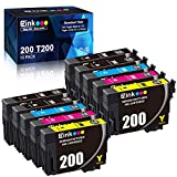 E-Z Ink (TM) Remanufactured Ink Cartridge Replacement for Epson 200 T200 T200120 to use with XP-200 XP-310 XP-400 XP-410 WF-2520 WF-2540 WF-2530 (4 Black, 2 Cyan, 2 Magenta, 2 Yellow, 10 Pack)