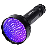 UV Blacklight Flashlight,100 LED UV Flashlights, Super Bright Ultraviolet Flashlight Professional Black Light Pet Urine Detector for Dog/Cat,Hunting Scorpions,Search for Bed Bugs and Fluorescer