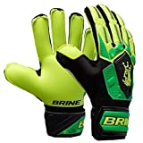 Brine King Match 3X Goalie Gloves (Hi Lite/Vivid Cactus, 9)