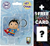 Superman: Little Mates x DC Universe Mini-Figure Keychain + 1 FREE Official DC Trading Card Bundle