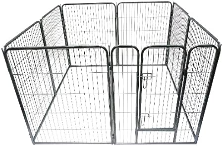 Ellie-Bo Heavy Duty Modular Puppy Exercise Play/ Whelping Pen, 158 x 158 x 100 cm, 8 Pieces