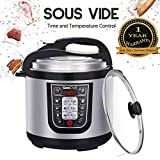 Geek Chef 6 Quart 11-in-1 Multi-Use Programmable Electric Pressure Cooker, Sous Vide Function, Slow Cooker, Rice Cooker, Steamer, Sauté, Yogurt Maker and Warmer, Stainless Steel Inner Pot(YBW60P)