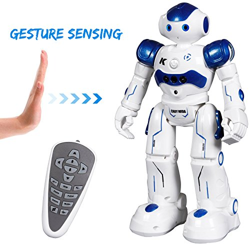 Remote Control RC Programmable Robot for Kids Birthday Gift Present, Interactive Walking Singing Dancing Smart Robotics for Kids Boys Girls (White)