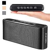 PURVOBIA Ultra Thin Slim Bluetooth Speaker – Bluetooth 5.0 Wireless Speaker Mini Portable Player Deep Bass Stereo Sound   Smart Touch Control w/ 20 Hour Playtime 5000mAh Power Bank Battery (Black)