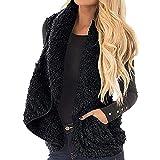 Preferential New Zlolia Women Sherpa Fleece Vest Faux Fur Open Front Lapel Draped Jacket Coat Cardigan