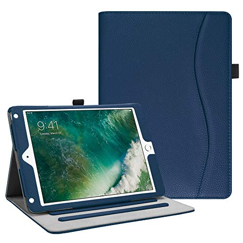 Fintie iPad 9.7 2018 2017 / iPad Air 2 / iPad Air Case - [Corner Protection] Multi-Angle Viewing Folio Cover w/Pocket, Auto Wake/Sleep for Apple iPad 6th / 5th Gen, iPad Air 1/2, Navy