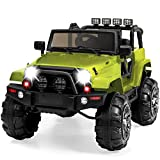 Best Choice Products 12V Kids Ride-On Truck Car w/ Remote Control, 3 Speeds, Spring Suspension, LED Lights, AUX - Green