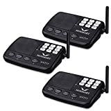 Wireless Intercom System Hosmart 1/2 Mile Long Range 7-Channel Security Wireless Intercom System for Home or Office (2018 New Version) [3 Stations Black][NOT Wireless Charger]