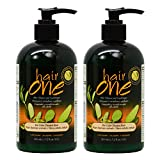 Hair One Hair Cleanser and Conditioner for Color Treated Hair with Jojoba 355ml / 12oz 'Pack of 2'