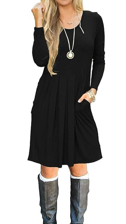 vestido estilo casual con bolsilloshttps://amzn.to/2L9XtAt