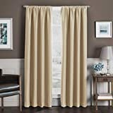 Maytex Mills Inc. Total Blackout Sebastian 84' L, 1 Rod Pocket Insulated Curtain Panel - Gold