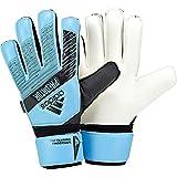 adidas Unisex Predator Top Training Fingersave Soccer Gloves, Bright Cyan/Black, 8
