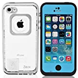 iPhone 5C Case, Zeox iPhone 5C Waterproof Shockproof Dirtproof Snowproof Protection Case Cover for Apple iPhone 5C - Blue