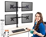 Stand Steady 3 Monitor Desk Mount Stand   Height Adjustable Triple Monitor Stand with Full Articulation and Desk Clamp   VESA Mount Fits Most LCD/LED Monitors 13-32 Inches (3 Arm Clamp)