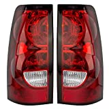 AUTOANDART Driver and Passenger Taillights Tail Lamps Replacement for Chevrolet Pickup Truck 19169004 19169005