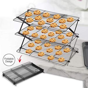 Arbelle 3-Tier Collapsible Cooling Rack Expandable & Collapsible Cookie Cooling Wire Rack Baking Rack Cooling Racks for Baking Foldable Premium Quality and Sturdy Legs Ideal for Baking Supplies 51TkpzJ1SQL